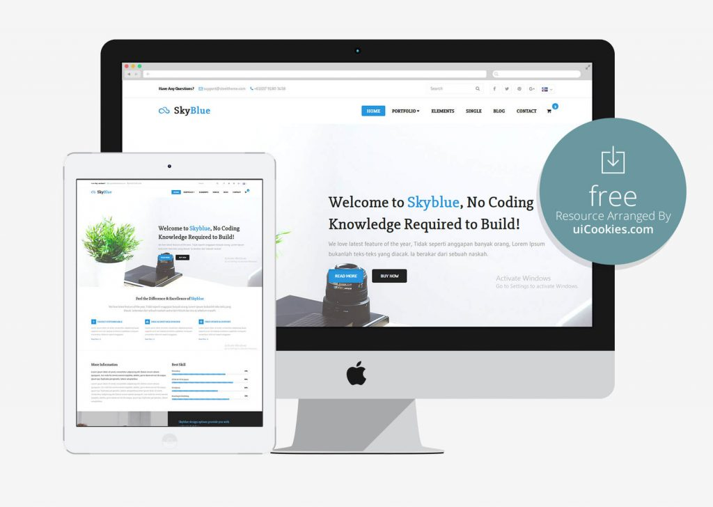 Skyeblue - Responsive Twitter Bootstrap Template