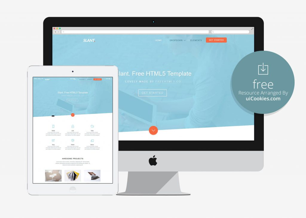 Slant - Material UI Bootstrap Responsive Theme