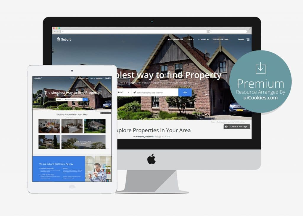 Suburb - Real Estate Bootstrap HTML Template