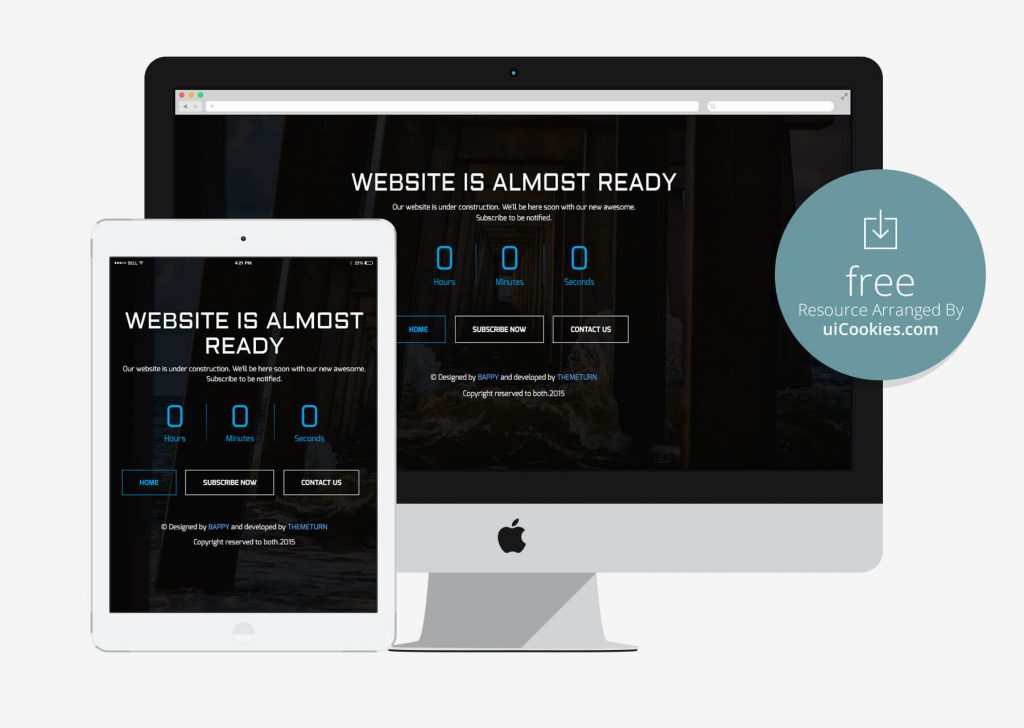 Timer - Free Coming Soon HTML5 Template