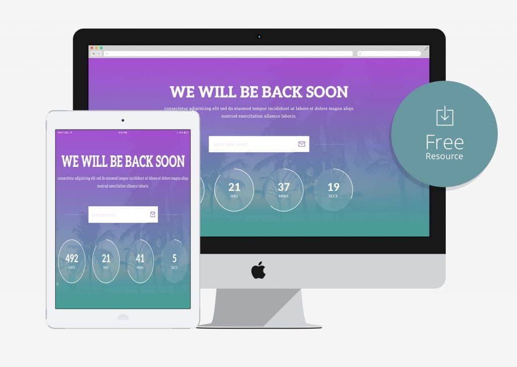 15 Under Construction HTML5 Bootstrap Website Templates 2018 - uiCookies