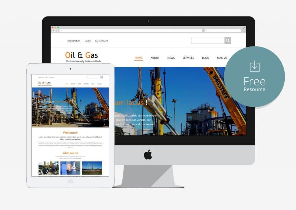 oil and gas free html5 bootstrap template for construction company