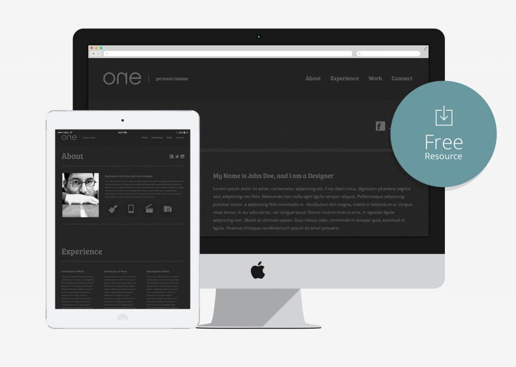 10 free bootstrap html online resume templates for cv website 2017