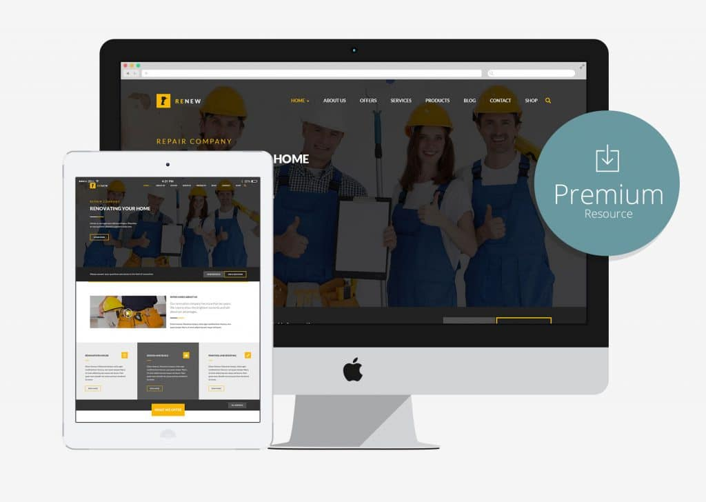 renew renovation repair construction html5 bootstrap template