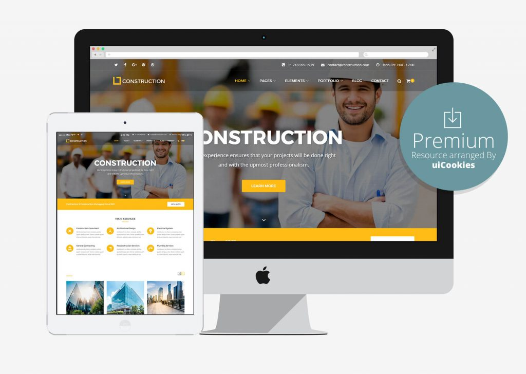 Top 50 business corporate bootstrap responsive html5 css3 website construction building construction company html5 website template flashek Image collections