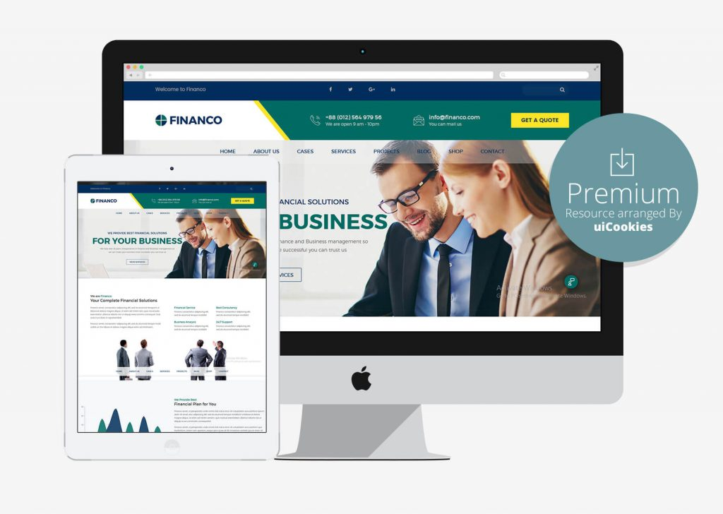 Top 50 business corporate bootstrap responsive html5 css3 website financo finance investment website html template wajeb