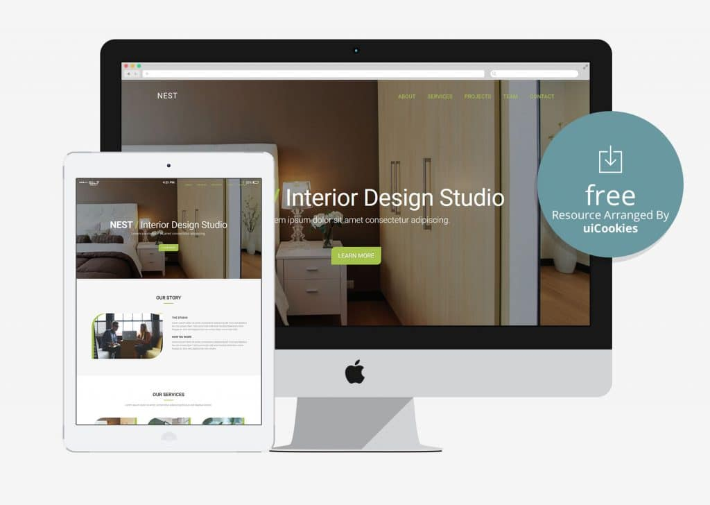 Nest Minimal Interior Business Responsive HTML5 Template