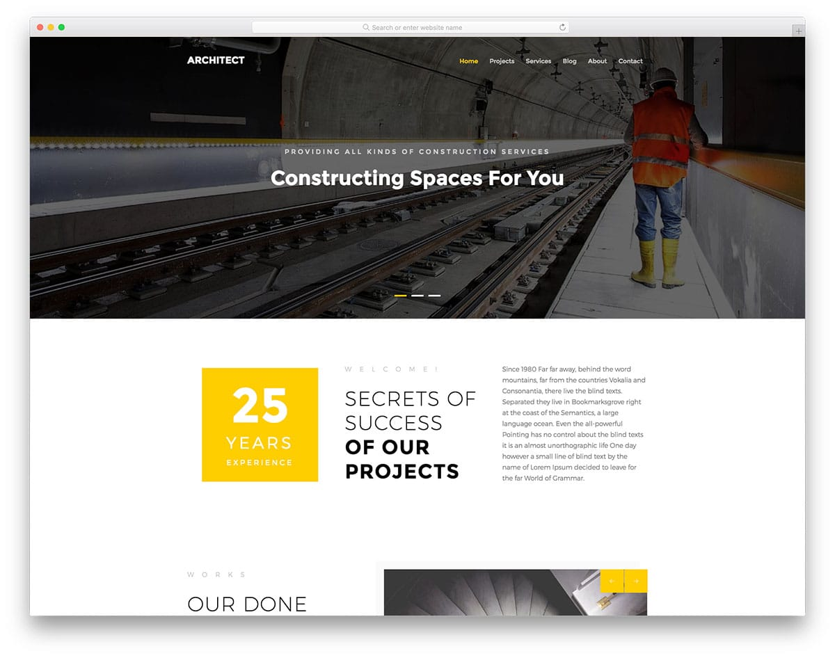 10 Free Bootstrap Construction Company Website Templates 2018