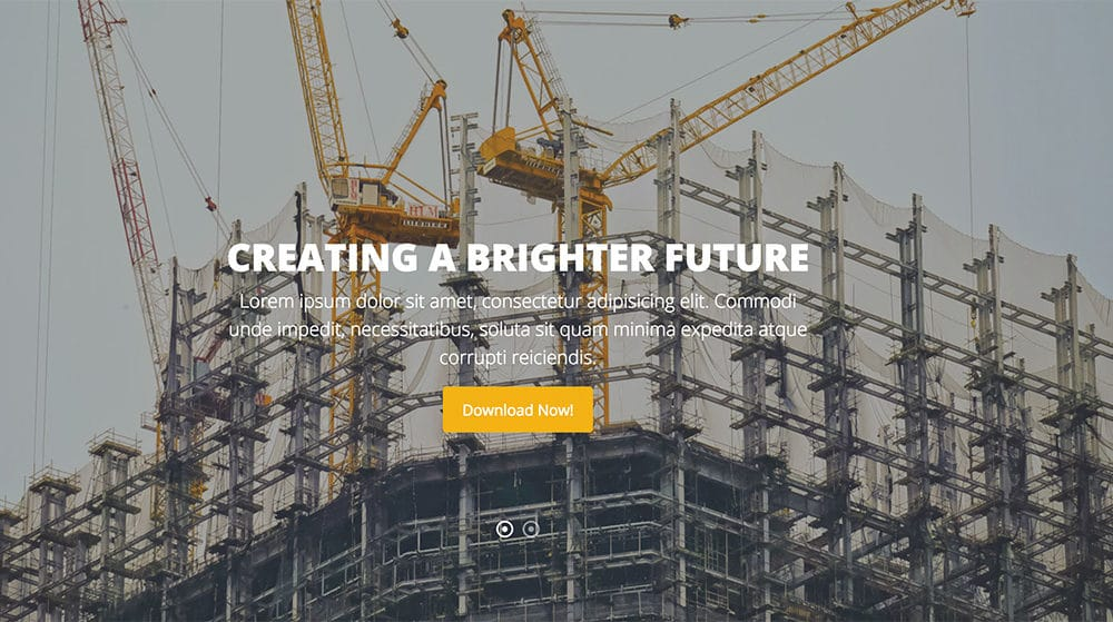 20 Premium & Free Bootstrap Construction Company Website