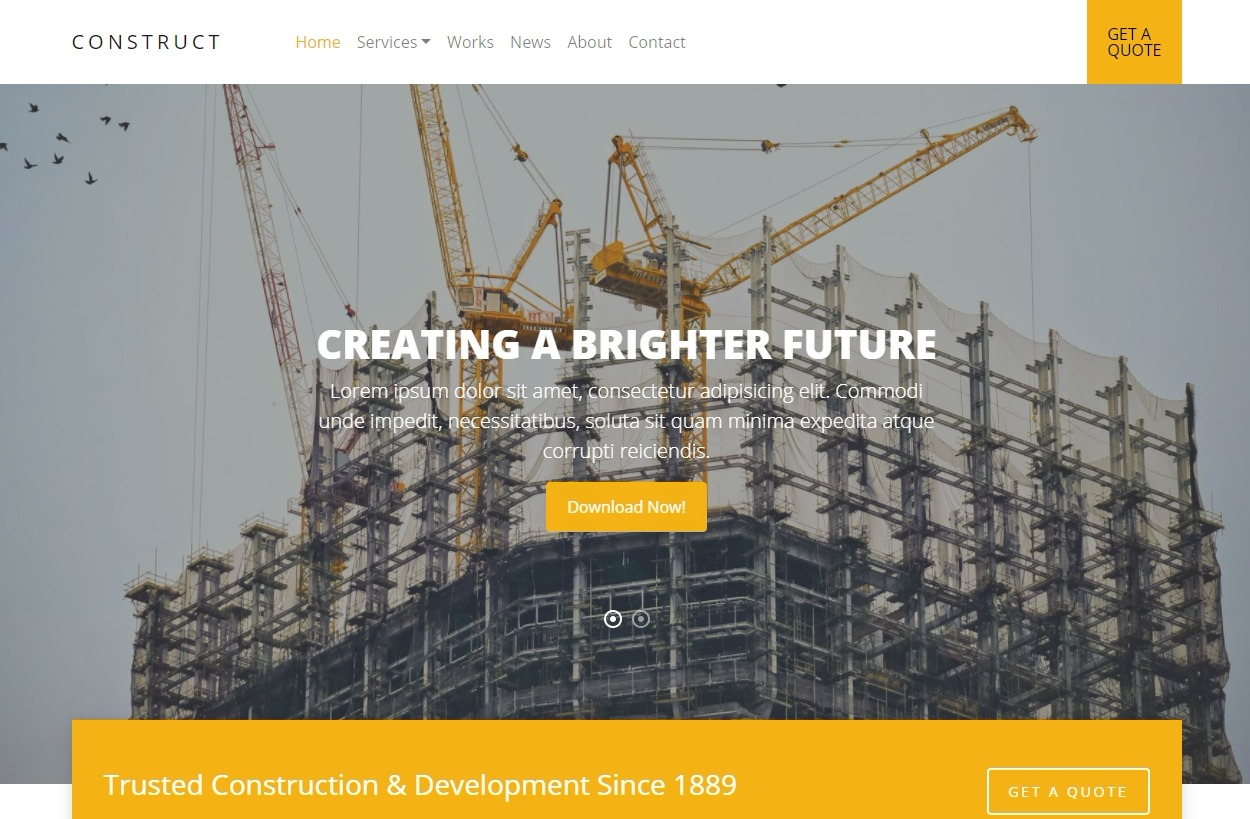 Construct-free-simple-website-template