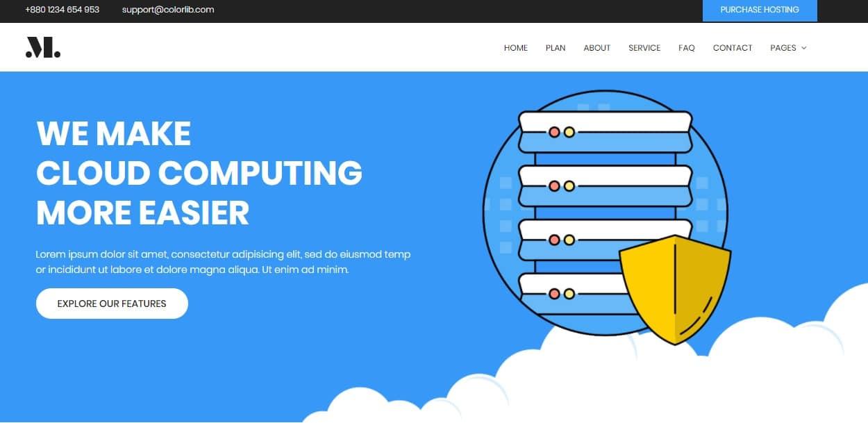 Hosting-free-simple-website-template