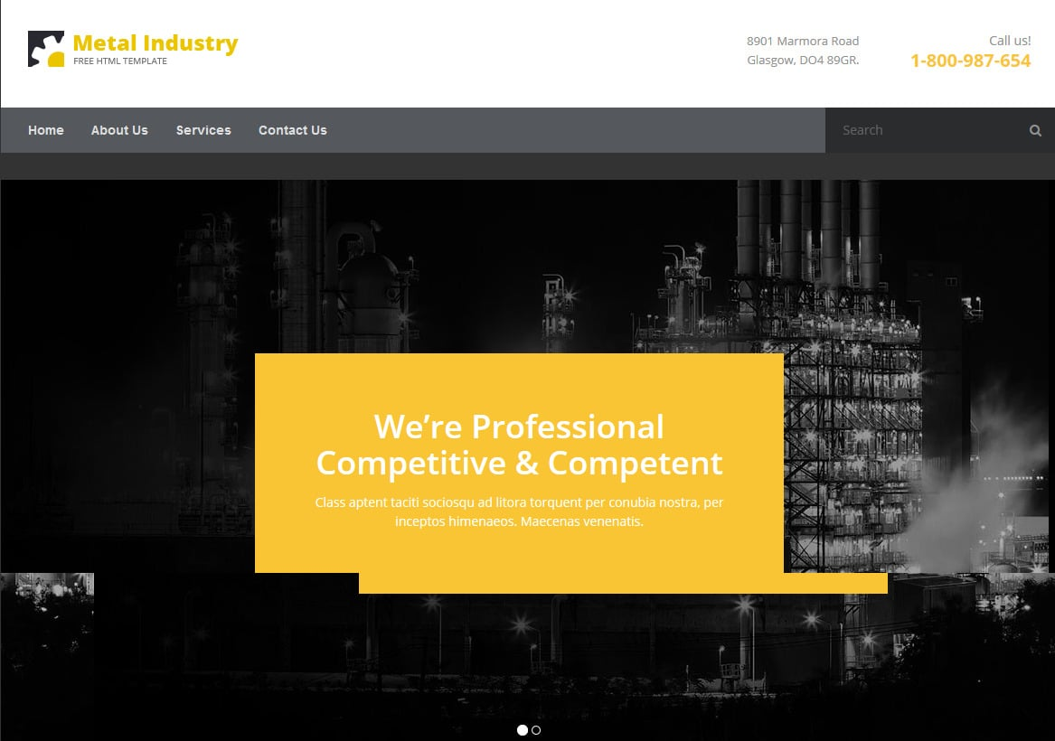 metal free html5 website templates - Free Html Website Templates