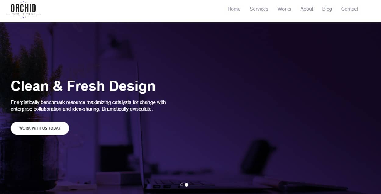 orchid free simple website template