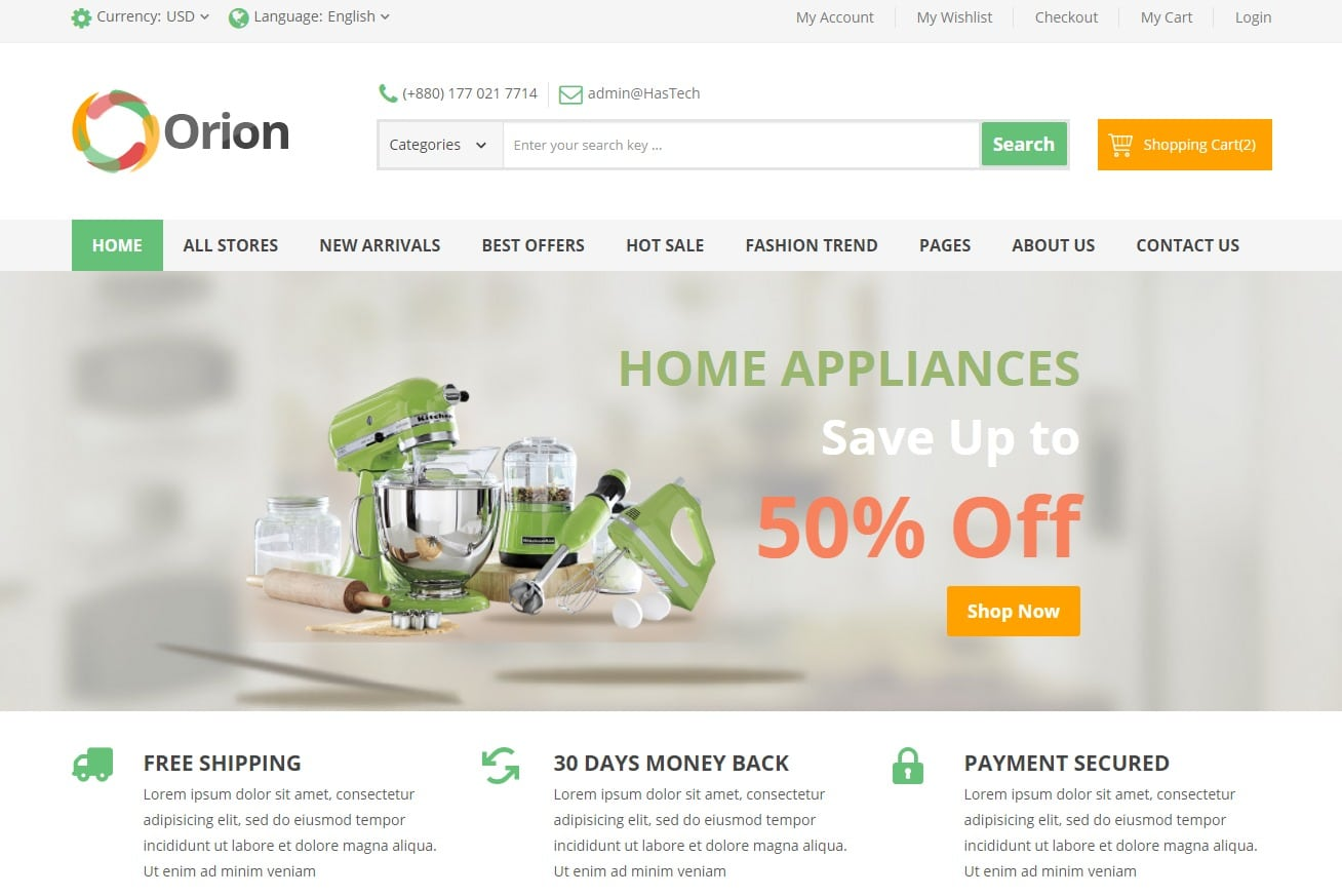 Orion-ecommerce-website-html-templates