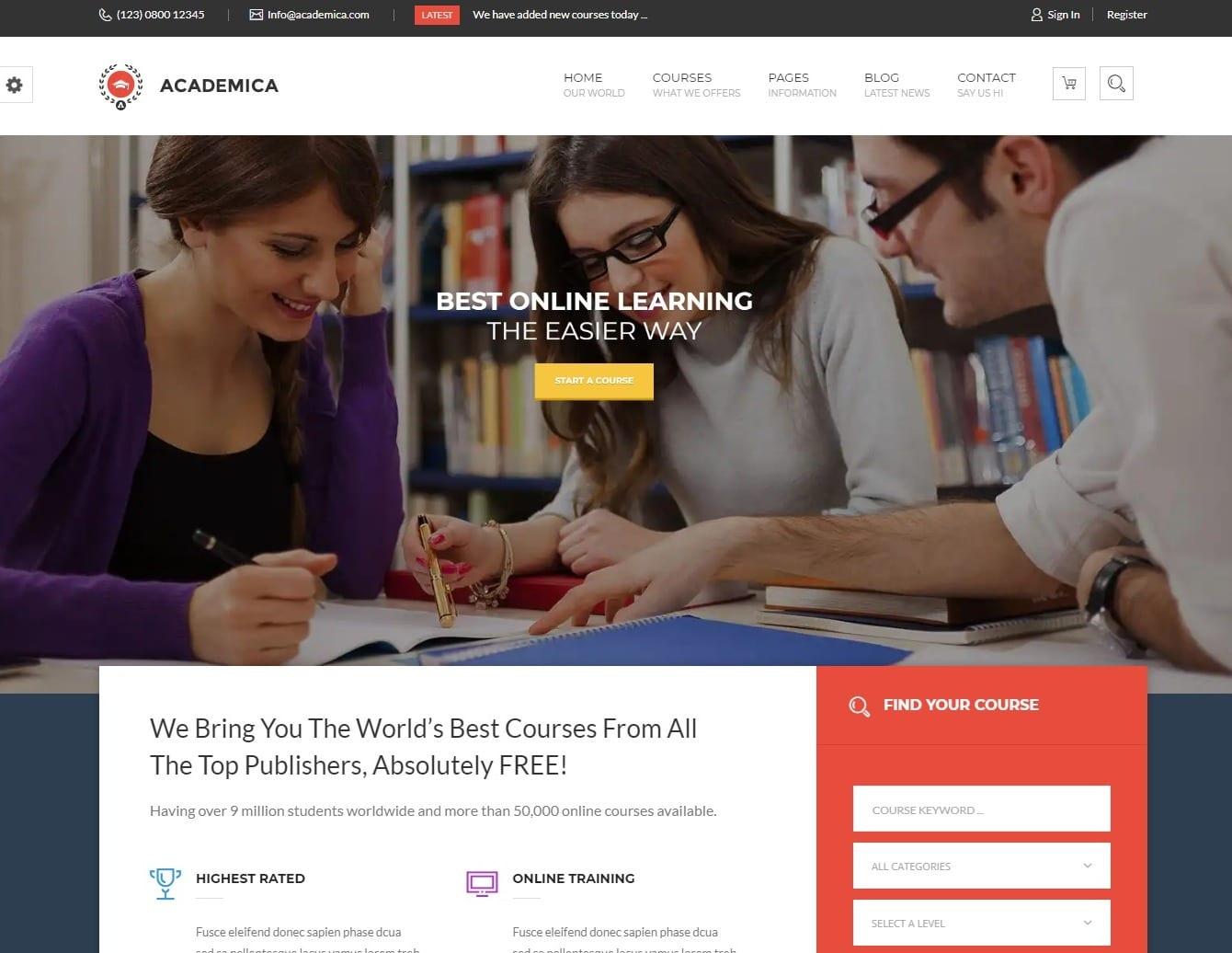 academica-education-website-template