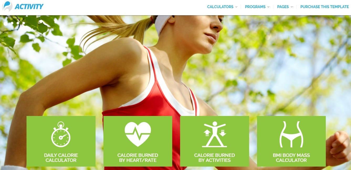activity-fitness-website-templates