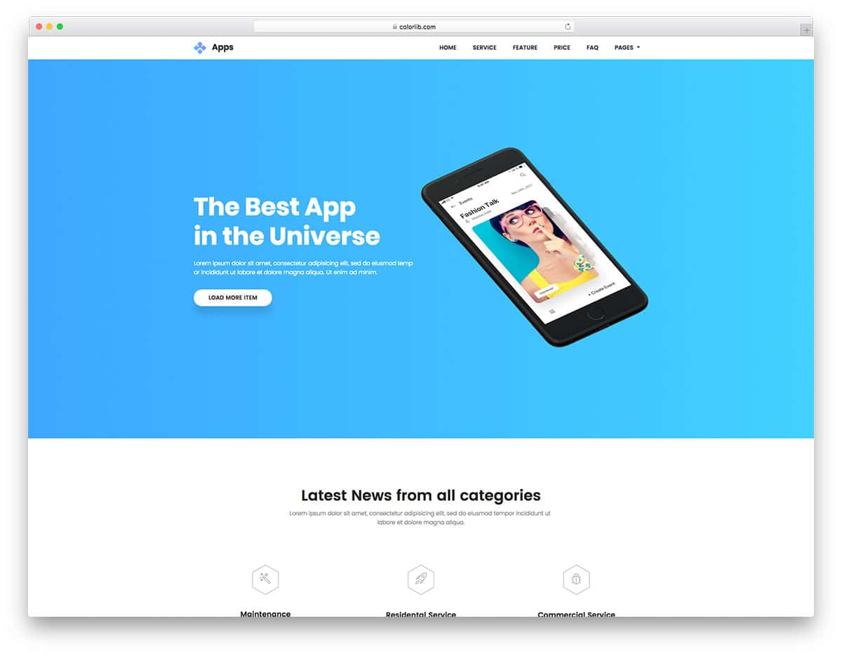 apps-free-one-page-website-templates