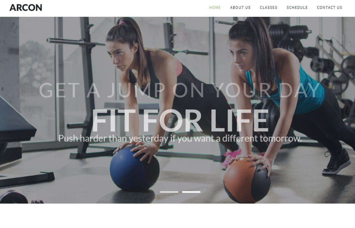 arcon-fitness-website-templates