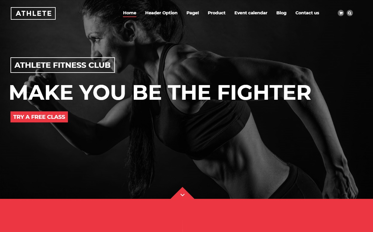 athlete-fitness-website-templates