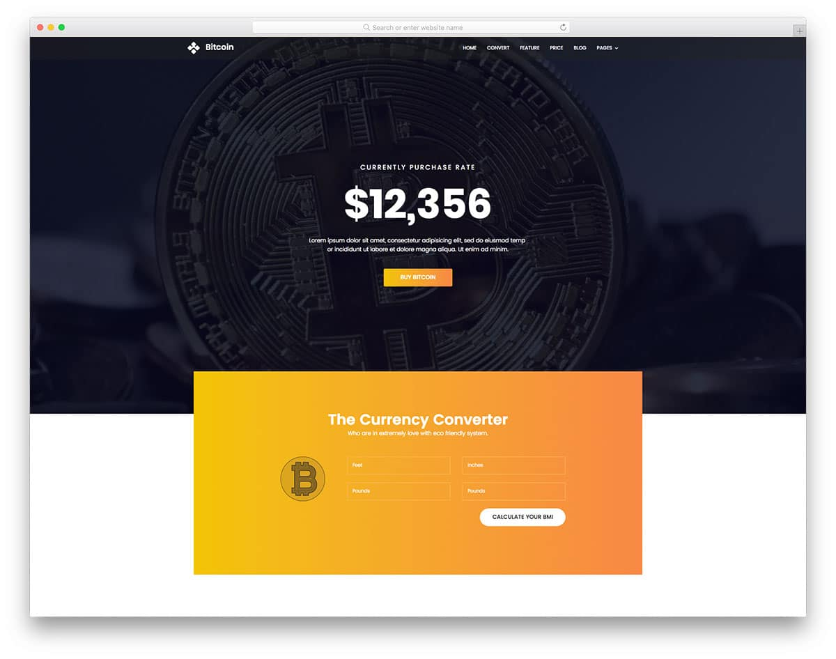 bitcoin-free-one-page-website-templates