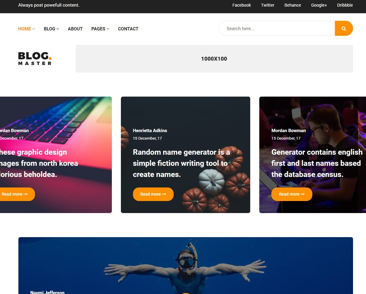 30 Premium Blog Templates To Create A Stunning Blog 2019 Uicookies