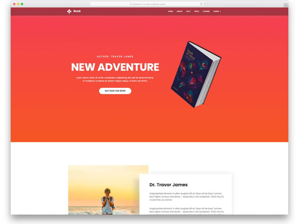 book free one page website templates