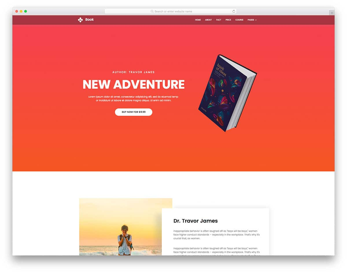 book-free-one-page-website-templates