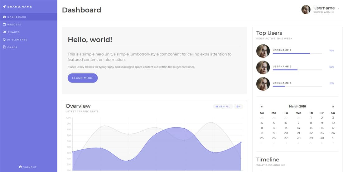 bootstrap-4-free-admin-dashboards