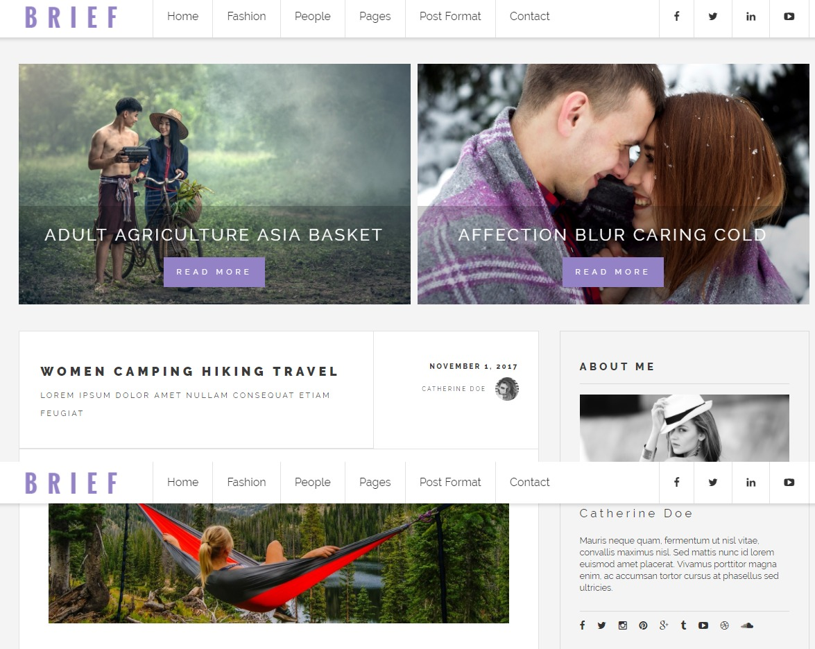 brief-blog-html-template