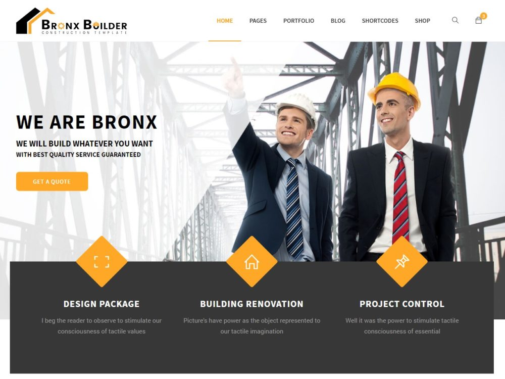 20 amazing industrial construction website templates 2018 uicookies bronx html construction template accmission Images
