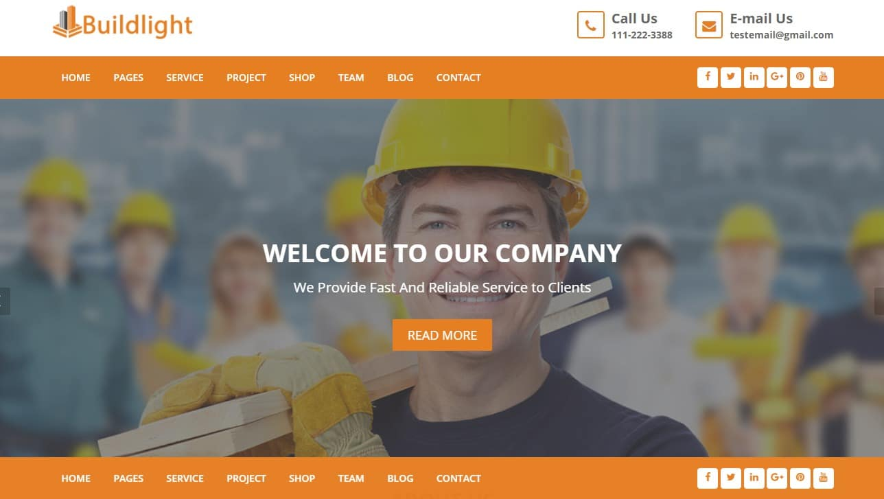 build-light-html-construction-template