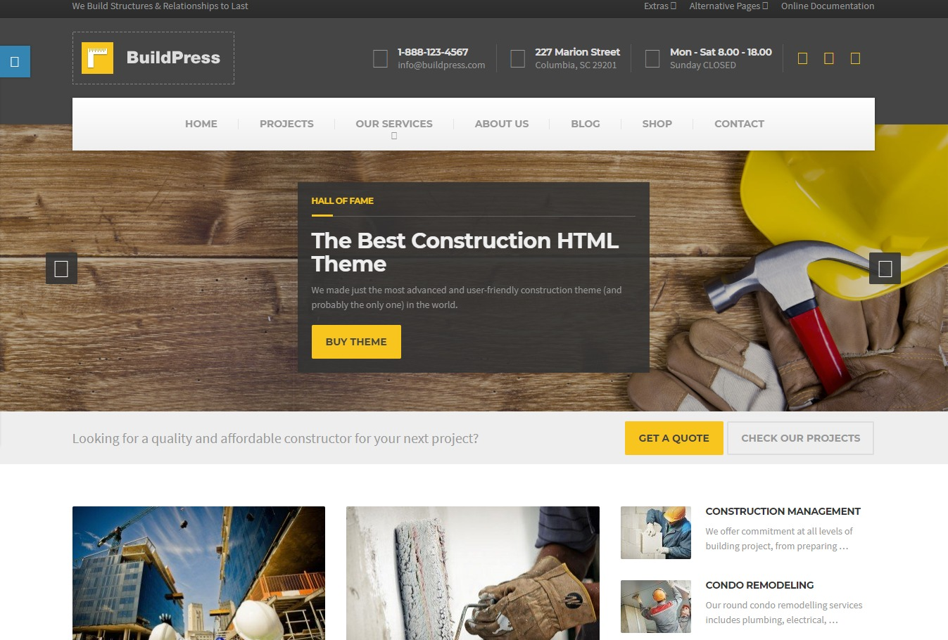 build-press-html-construction-template