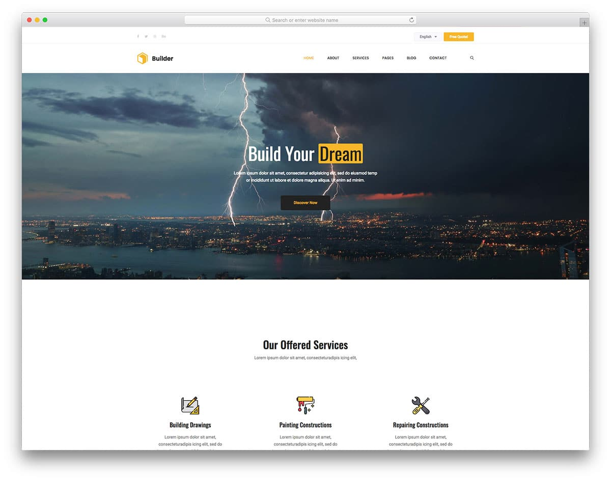 builder-free-construction-website-templates
