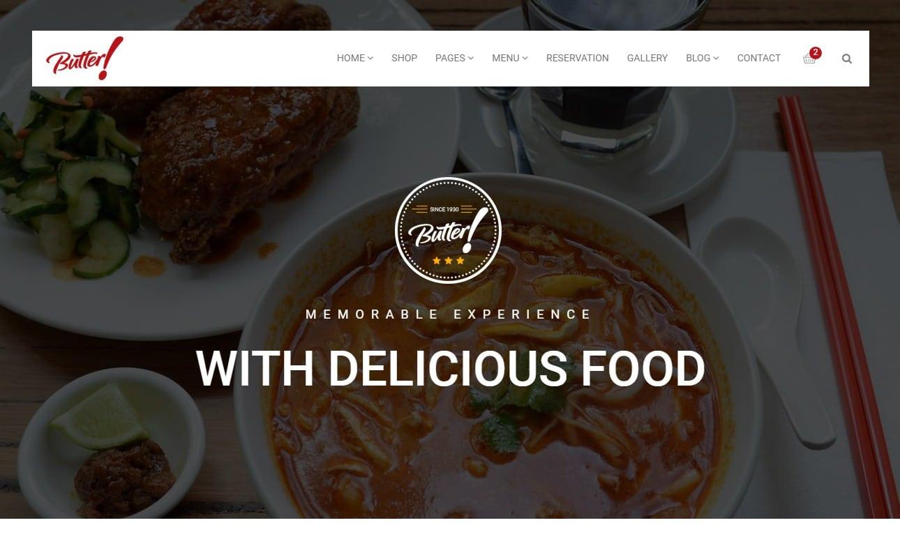 20 Stunning Restaurant Website Templates 2018 Uicookies