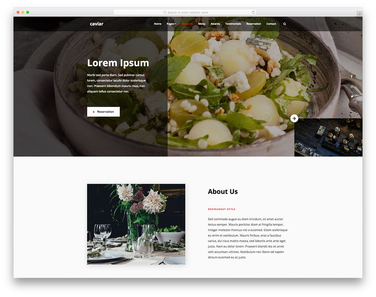 caviar-free-restaurant-website-templates