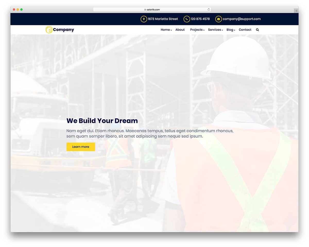 celt-free-construction-website-templates