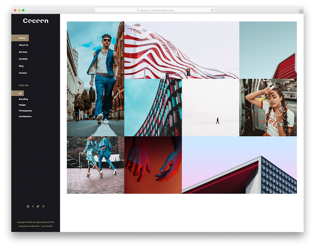 cocoon-free-photography-website-templates