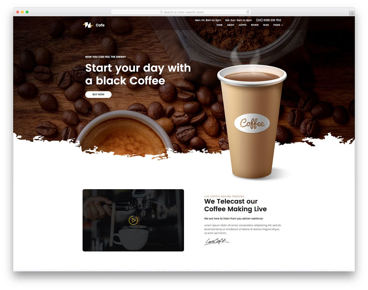 coffee-free-landing-page-templates