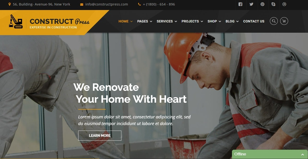 construct-press-html-construction-template