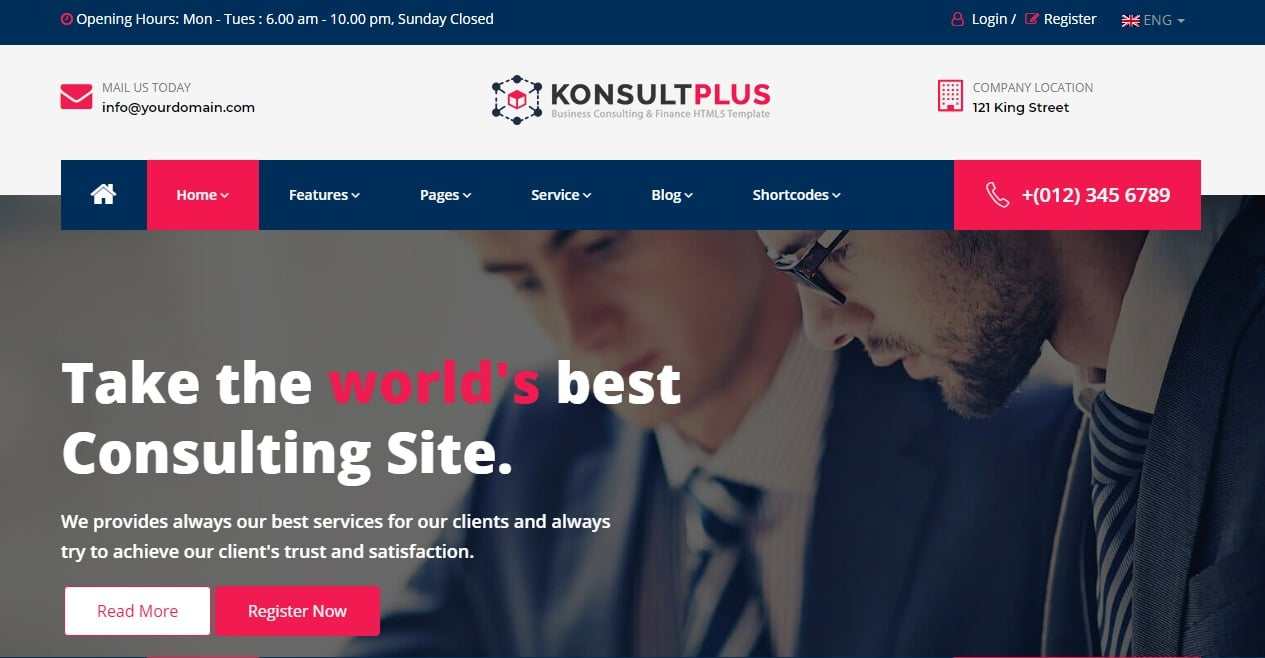 25 amazing premium html5 corporate business website template for 2018 consulting plus business website html template cheaphphosting Images