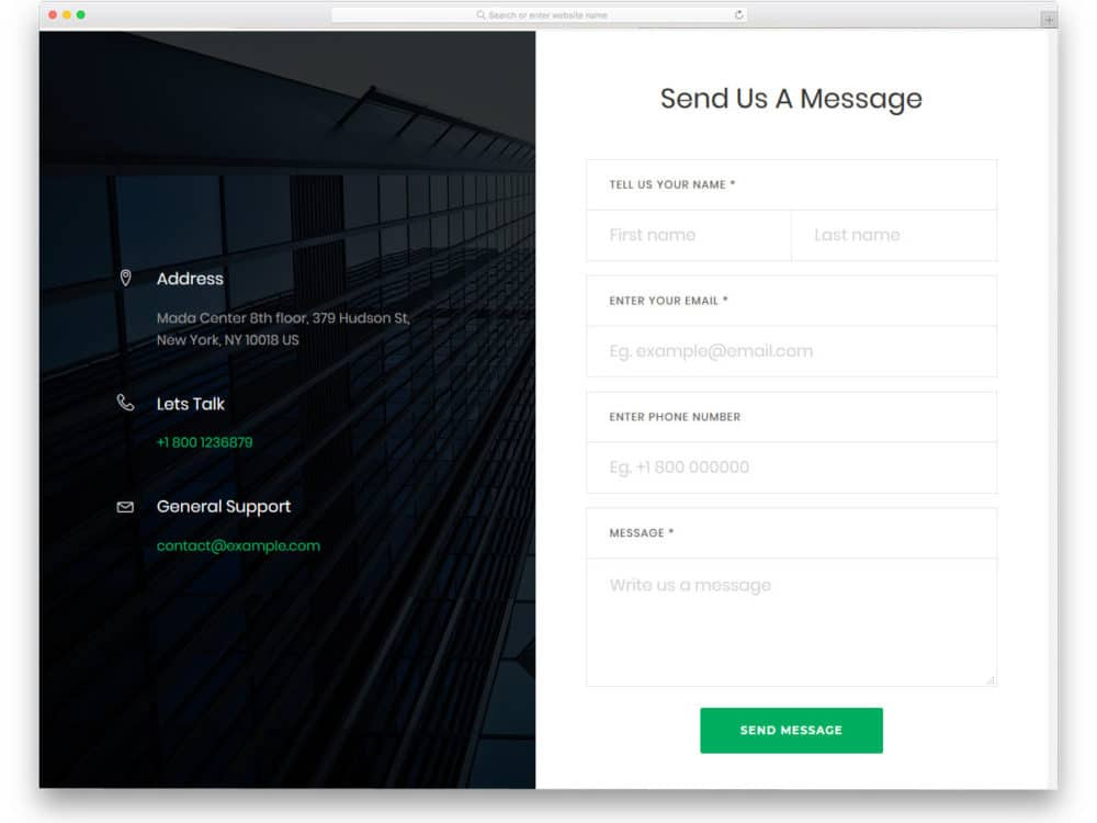 Popup Contact Form Codepen