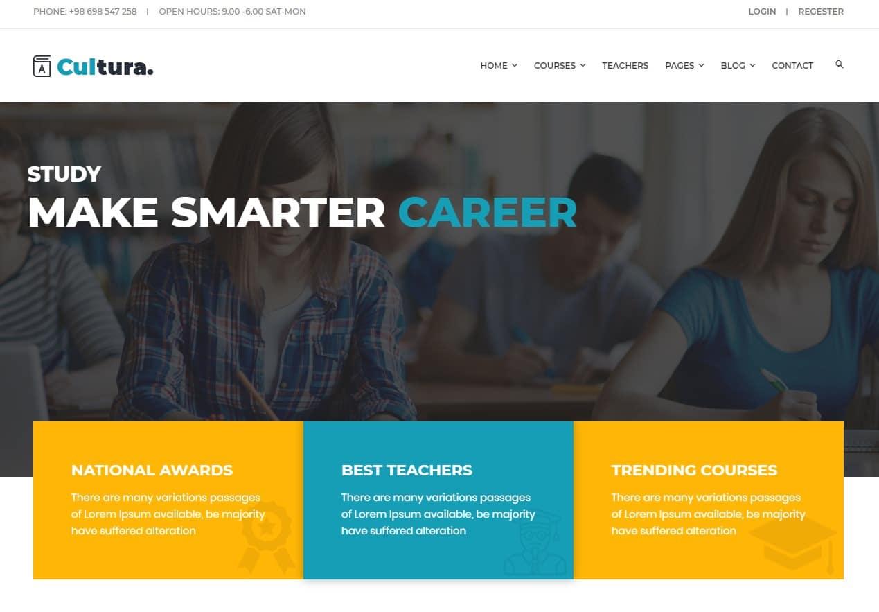 cultura-html-education-website-template