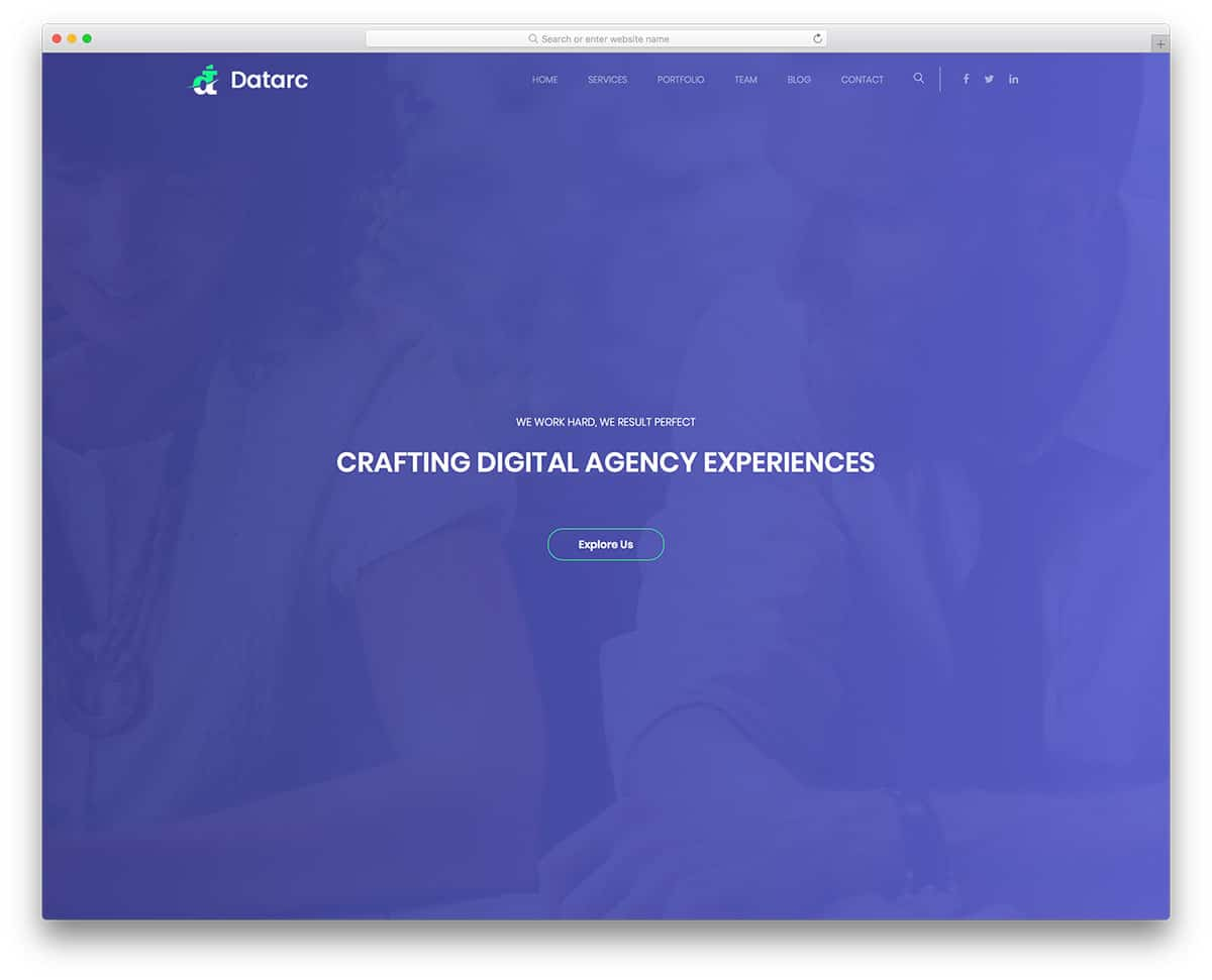 datarc-free-one-page-website-templates