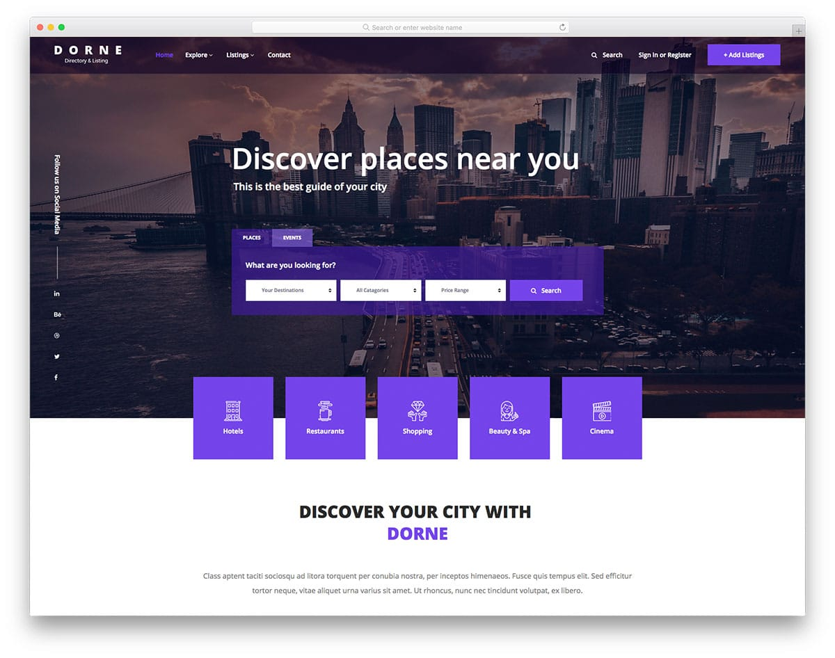 dorne-free-travel-website-templates