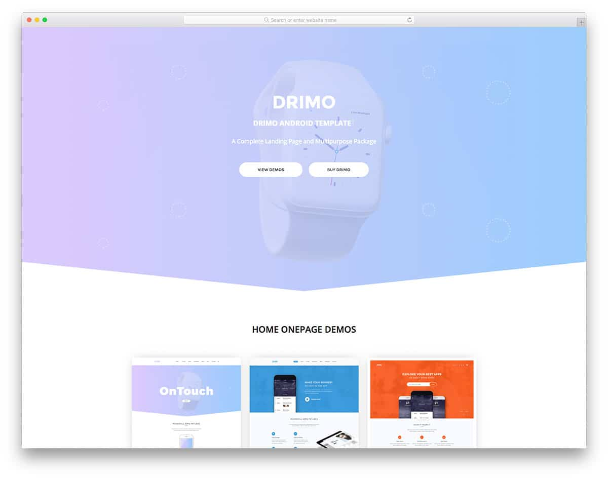 drimo free simple website templates