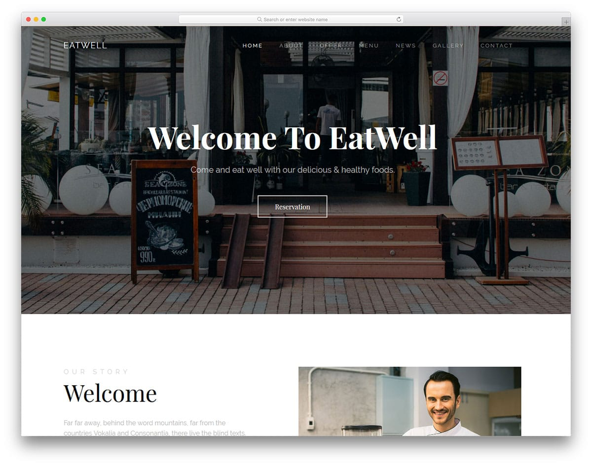 eatwell-free-one-page-website-templates