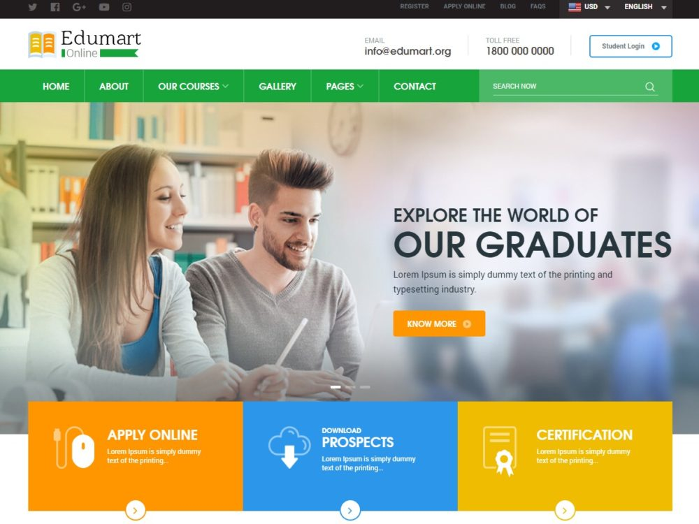 25 amazing education website templates for college universities