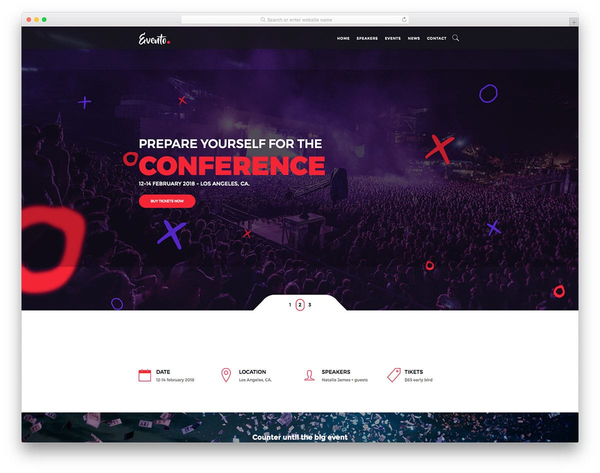 evento-free-one-page-website-templates