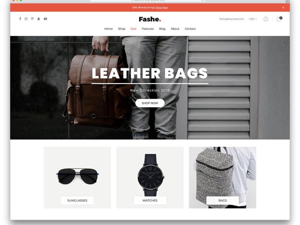 20 best free ecommerce website templates in 2018 uicookies fashe free ecommerce website templates reheart
