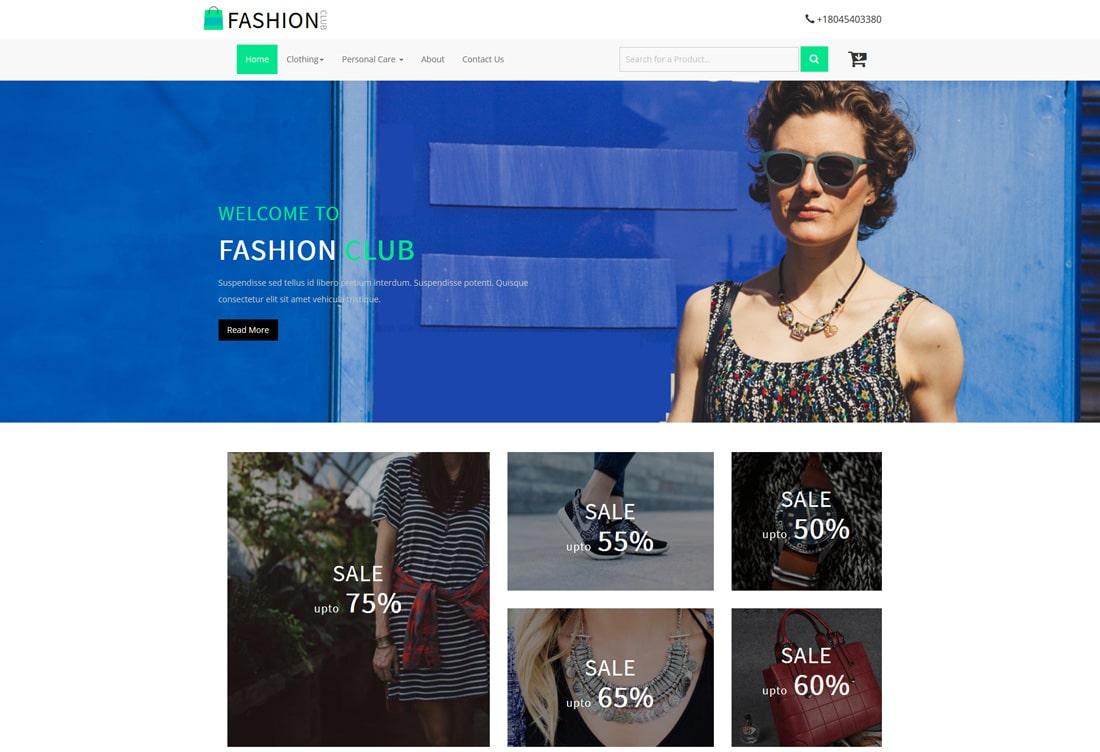 fashion-club-free-ecommerce-website-templates